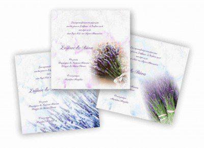 Προσκλητήριο γάμου Λεβάντες Μ17